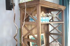 Vintage Driftwood Etagere, Natural French Bookcase. $495.00 USD, via Etsy.