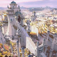 Fantasy City Map, Fantasy Town, Fantasy Castle, World Of Fantasy, Fantasy Places, Fantasy Rpg, Fantasy Concept Art, Fantasy Character Design, Fantasy Artwork