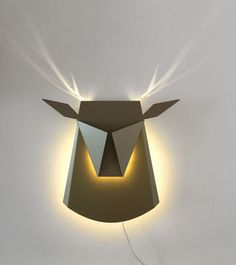 Applique Cerf / LED - Sur prise de courant Or - Compagnie