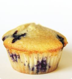 Blueberry Protein Muffins: Egg Whites, Oats, Greek Yogurt, Vanilla Protein Powder, stevia, baking powder & soda, blueberries