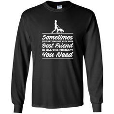 Best Friend - Long Sleeve T Shirt, T-Shirts. #rescue #rescuedog #animal #pets #fashion #shopping #longsleevetees