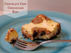 Chocolate Chip Cheesecake Bars-- the perfect pairing of cheesecake and chocolate chip cookies (and it's faster and easier than making a cheesecake!)