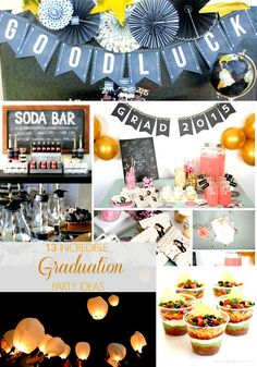 13 Super fun ideas for ANY graduation party!!