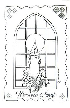 bougie 1 patron voir carte faite plus merry christmas in polishchristmas candleschristmas lightsparchment cardschristmas embroiderycoloring pagespicasa