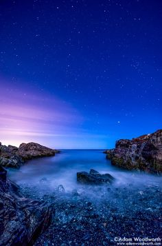Night on the Marginal Way by Adam Woodworth on 500px