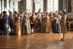 A behind the scenes photo from Farewell, My Queen (2012); shot at the Hall of Mirrors at Versailles.