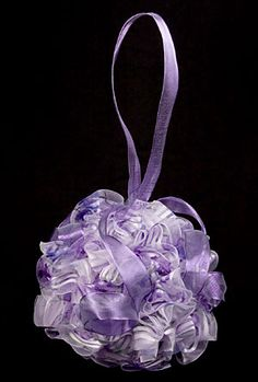 Ribbon Flower Ball @ Brilliant Wedding Jewelry