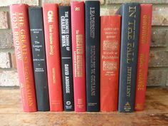 Instant Library  Vintage Books  Red and by RiverOfTimeTreasures, $45.00