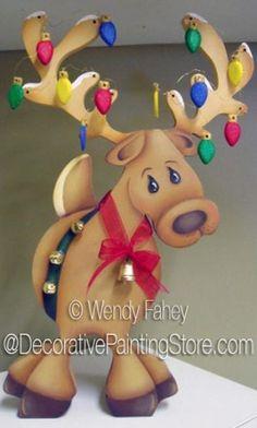 Olive the Other Reindeer ePacket - Wendy Fahey - PDF DOWNLOAD #PaintingEPattern #paintingpattern #paintedreindeer