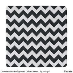 Customizable Background Color Chevron Zigzag Trivets