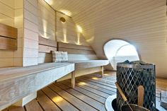 Modern sauna with a perfect atmosphere