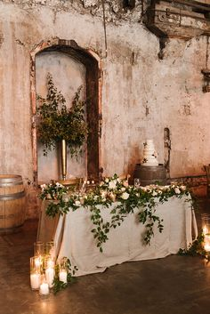 Industrial Wedding in Toronto with an Enchanted Forest Reception ⋆ Ruffled Forest Wedding Decorations, Forest Wedding Reception, Romantic Wedding Receptions, Sage Wedding, Wedding Table, Floral Wedding, Bridal Table Decorations, Boho Wedding, Wedding Venues