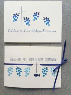 Einladungskarten - Einladung zur Konfirmation / Kommunion - WEIN.REBE - ein Designerstück von creartivbox bei DaWanda