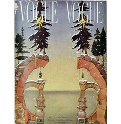 Vogue Cover by Salvador Dali from 1946 that you can fold in half to create a face | Styleite