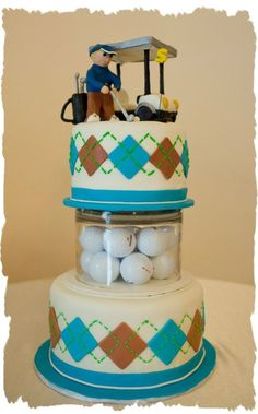 A golf inspired cake… Golf cart and all