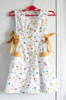 Detské oblečenie - Šatôčky s tulipánikmi. - 6987031_