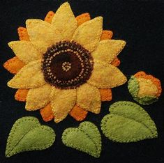 Image result for Sunflower Wool Applique