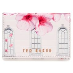 Women's Ted Baker London Window Box Floral Clutch ($75) ❤ liked on Polyvore featuring bags, handbags, clutches, baby pink, ted baker handbags, ted baker purse, baby pink purse, pink handbags and floral purse