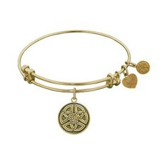 Celtic Round Knot bangle (also comes in rose and white finishes). www.troyshoppejewellers.com