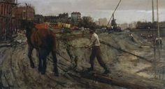The Athenaeum - Building Site in Amsterdam Date unknown (George Heidrik Breitner - )