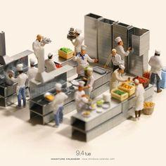 miniature world by Tatsuya Tanaka - Baba-mail Miniature Photography, Toys Photography, Macro Photography, Small People Big World, Tiny World, Polymer Clay Miniatures, Dollhouse Miniatures, Foto Macro, Miniature Calendar