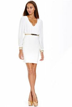 XOXO Dress, Long Sleeve Chain Belted Cutout on shopstyle.com