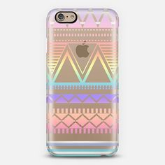 Organic Saturation | Cotton Candy Rainbow Tribal Transparent #Iphone6Cases