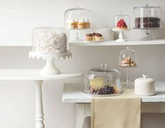MS Macy's Cake Dome: Preserve your most impressive confections with domed cake stands. $36.00