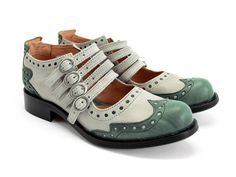 John Fleuvog Alli Green Shock Gray  Bought these! Can't wait til they get here! Whoop!
