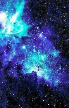 Blue, galaxy, #wallpaper