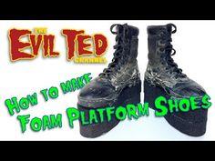 (31) How To Make Foam Platform Shoes. - YouTube
