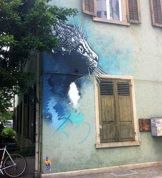 C215 New Mural In Zurich, Switzerland