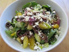 Grilled Veggie Greek Salad