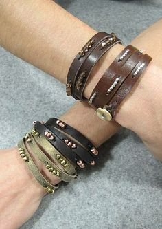 How to make your own leather beaded bracelet