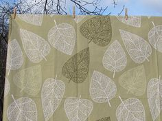 Cotton Tablecloth with Leaves 70/ 80/ 85