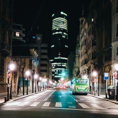 Elkano kalea #bilbao #calle #street #noche #nightlights