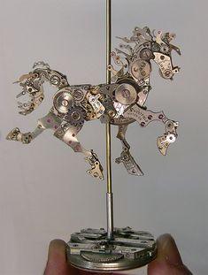 Steampunk Watch Part Sculptures<br /> by Sue Beatrice