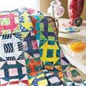 Candy Jar: Quick Batik Scrappy or Fat Quarter Quilt Pattern Pattern Blocks, Quilt Patterns, Churn Dash Quilt, Signature Quilts, Fat Quarter Quilt, Fabric Strips, Candy Jars, Quilt Bedding, Wedding Wishes