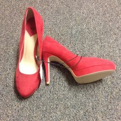 Shoes. Nwt. Red heels from H&M! Super cute, never worn! H&M Shoes Heels