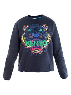 e627a800c2f Shop for Tiger embroidered sweater by Kenzo at ShopStyle.