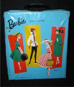 Blue vintage Barbie case