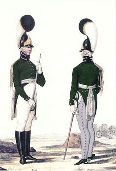 Обер-офицеры-конной-роты-Лейб-гвардии-Артиллерийского-б-на-1802-05 гг.