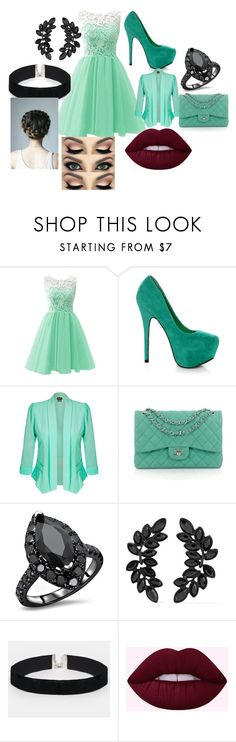 """""""Going out for dinner"""" by lj-ferguson1 on Polyvore featuring Mystic Sea, City Chic, Chanel, Kenneth Jay Lane and ASOS"""