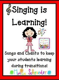 Singing is Learning is a compilation of many of the songs and chants that I use during the school year to keep my students focused and learning. Singing/Chanting is a huge part of my management system. I never send my students back to their seats with out a chant to keep their mouths busy and their minds learning.