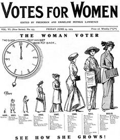 Just as over time more states have given women the right to vote, there is still room, even now, for more rights to be given to women.