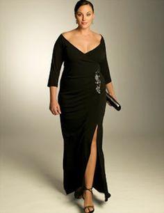 7dec5985c5e black plus size evening dress Business Outfit