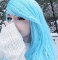 New hair blue ulzzang 53 ideas - Effective pictures that we take about Beauty shoot . - New hair blue ulzzang 53 ideas – Effective pictures that we offer via beauty shoot A quality pictu - Baby Blue Hair, Pastel Blue Hair, Hair Color Blue, Blue Wig, Cute Hair Colors, Hair Dye Colors, Cool Hair Color, Pelo Multicolor, Emo Hair