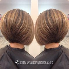 The Full Stack: 50 Hottest Stacked Haircuts Stacked Bob With Cinnamon Brown Balayage Short Stacked Bob Haircuts, Bob Hairstyles For Fine Hair, Short Cuts, Pixie Haircuts, Wedding Hairstyles, Braided Hairstyles, 2015 Hairstyles, Celebrity Hairstyles, Short Hair Cuts For Women Bob