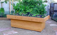 This Double Panel Redwood Waist High Raised Bed is a beautiful option for the 4′ by 8′ by 12″ sized bed.