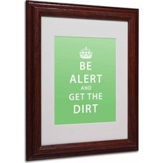 Trademark Fine Art Get the Dirt Canvas Art by Megan Romo, Wood Frame, Size: 16 x 20, Multicolor